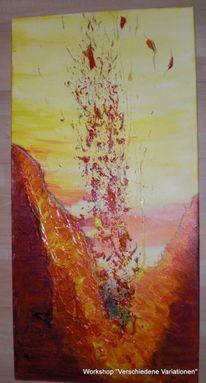 Abstrakt, Modern, Gemälde, Acrylmalerei