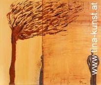 Menschen, Acrylmalerei, Abstrakt, Gemälde