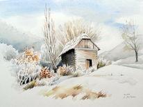 Winter, Frost, Malerei