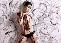 Bodypainting, Zeichnung, Montage, Fotografie