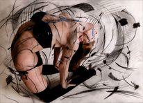 Montage, Bodypainting, Frau, Digitale zeichnung