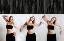 Bodypainting, Fotografie, Montage, Frau