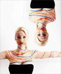 Fotografie, Bodypainting, Linie, Farben