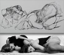 Zeichnung, Mädchen, Fotografie, Frau
