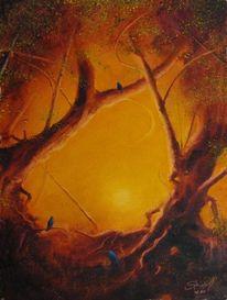 Malerei, Vogel, Zeit
