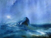 Wasser, Nordmeer, Meer, Blau