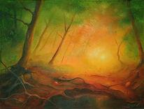 Stille, Baum, Waldweg, Landschaft
