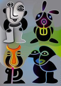 Farben, Schwarz, Wesen, Figur