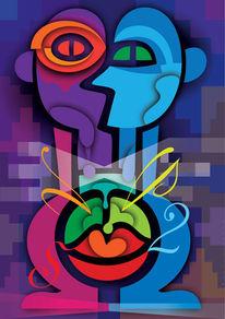 Farben, Innerer konflikt, Auseinandersetzung, Formen