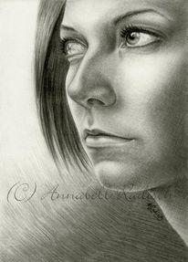 Selbstportrait, Schmerz, Portrait, Bleistiftzeichnung