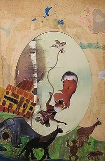 Malerei, Menschen, Arche