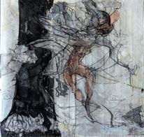 Fliegen, Figur, Wind, Baum
