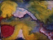 Farben, Winkel, Kurve, Aquarell