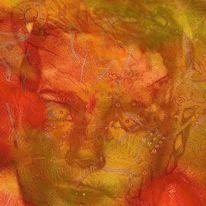Gesicht, Augen, Farben, Digitale kunst