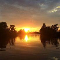 Abend, Wasser, Himmel, Sonne