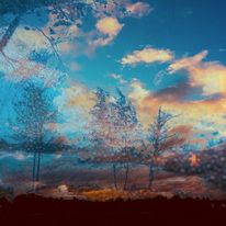 Wolken, Himmel, Baum, Digitale kunst