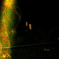 Nacht, Fenster, Leuchten, Goldsäule