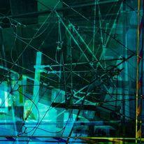 Leitung, Farben, Wirrnis, Digitale kunst