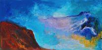 Kitsch, Abstrakt, Blaue lagune, Malerei