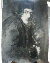Portrait, Fantasie, Hobbit, Zeichnung