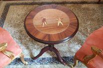 Salon tisch, Intarsienbilder, Marqueterie marquetry, Stil möbel