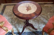 Marketerie, Salon tisch, Intarsienbilder, Stil möbel