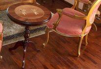 Stil möbel, Beistelltisch, Salon tisch, Marketerie