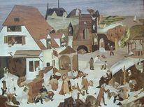 Marketerie, Bruegel el viejo, Holzbilder, Design