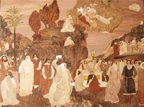 Intarsienbilder, Moses, Marketerie, Einlegearbeiten