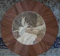 Marquetry picture, Marchetaria, Cuadro, Table coffee