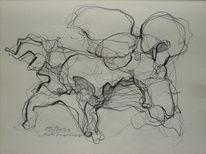 Abstrakt, Abstrakte kunst, Linie, Schwarz