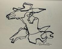 Schwarz weiß, Weiß, Expressionismus, Zeichnung