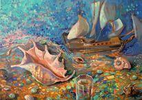 Malerei, Glas, Wasser, Meer