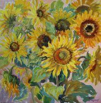 Ölmalerei, Stillleben, Malerei, Sonnenblumen