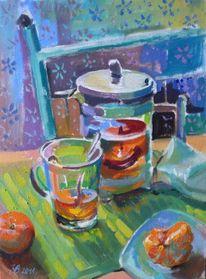 Stillleben, Malerei, Ölmalerei, Tee