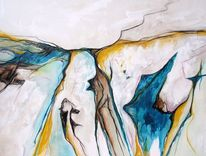 Abstrakt, Malerei, Hund, Pinguin