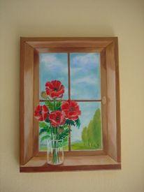 Malerei, Stillleben, Fenster