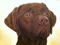 Hund, Pastellmalerei, Malerei, Tiere