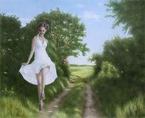 Traum, Freiheit, Acrylmalerei, Schön