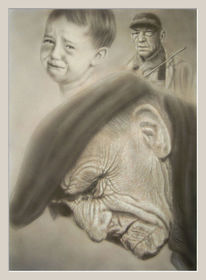 Erinnerung, Hart, Acrylmalerei, Alt