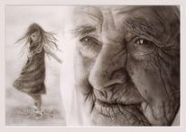 Aquarellmalerei, Menschen, Spielen, Kind