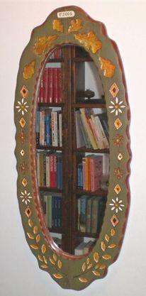 Kunsthandwerk, Holz, Spiegel