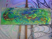 Endstation, Wunderland, Malerei, Abstrakt