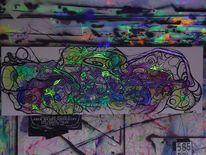 Welt, Malerei, Abstrakt,