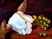 Weintrauben, Schädel, Malerei