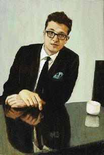 Portrait, Selbstportrait, Malerei, Gemälde