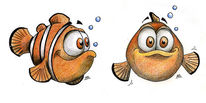 Comic, Fisch, Clownfisch, Illustration