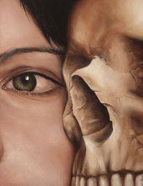 Schädel, Augen, Trugbild, Einbildung