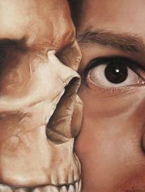 Schädel, Trugbild, Einbildung, Selbstportrait
