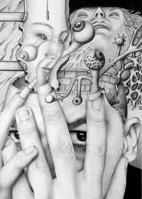 Kollaboration, Surreal, Fragment, Zeichnungen